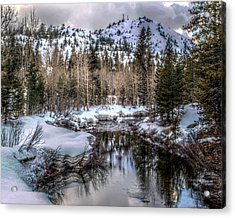 A Winters Peace Of Reflection Acrylic Print