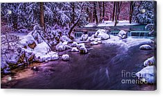 a winter's tale II - hdr Acrylic Print by Hannes Cmarits