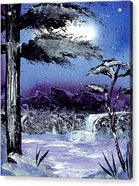 A Winters Valley Acrylic Print by Marc Chambers