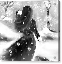 A Winters Walk Acrylic Print by Lori  Lovetere