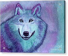 A Wolf Of A Different Color Acrylic Print by Vikki Wicks
