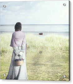A Woman And The Sea Acrylic Print by Joana Kruse