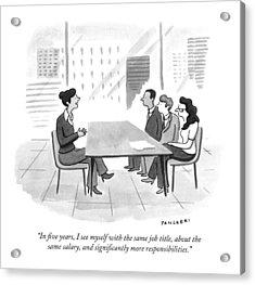 A Woman At A Job Interview Acrylic Print
