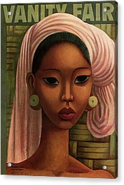 A Woman From Bali Acrylic Print by Miguel Covarrubias