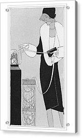 A Woman Holding Ticker Tape Acrylic Print