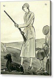 A Woman Hunting Acrylic Print