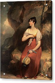 A Woman In A Landscape, Sir Martin Archer Shee Acrylic Print by Litz Collection