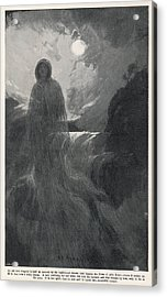 A Woman In White Haunts Aira  Force Acrylic Print by Mary Evans Picture Library