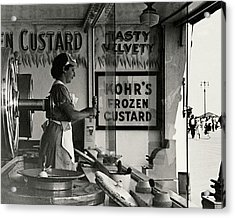 A Woman Selling Custard Acrylic Print
