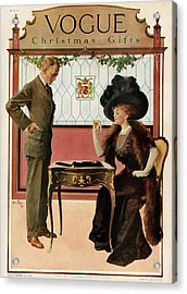 A Woman Shopping Acrylic Print by Will Foster