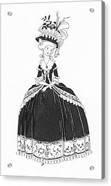 A Woman Styled Like Marie Antoinette Acrylic Print by Claire Avery