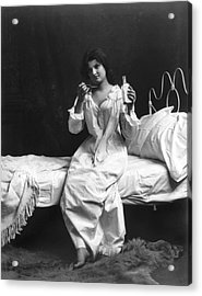 A Woman Taking Medicine Acrylic Print by Underwood Archives