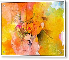 A Woman Thinking Acrylic Print