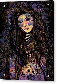 A Woman Warrior Acrylic Print by Natalie Holland