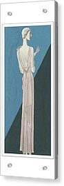 A Woman Wearing A Gown By Mainbocher Acrylic Print