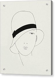 A Woman Wearing A Hat Acrylic Print
