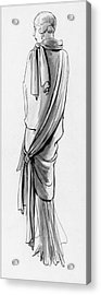 A Woman Wearing A Paquin Wrap Acrylic Print by Porter Woodruff