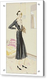 A Woman Wearing A Saks-fifth Avenue Suit Acrylic Print by R.S. Grafstrom