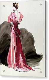 A Woman Wearing A Vionnet Dress Acrylic Print