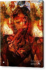 A World Apart Acrylic Print by Fania Simon