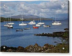 A Yachting Haven Acrylic Print by Veron Miller