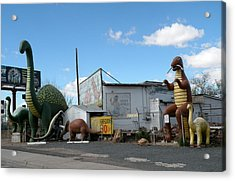 A Yard Full Of Dinosaurs Arizona Acrylic Print