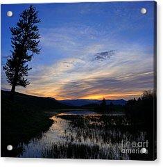 A Yellowstone Lake Before Sunrise Acrylic Print
