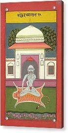 A Yogi In Machendra Asana - Hata Yoga Acrylic Print by British Library