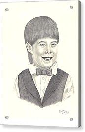 A Young Boy Acrylic Print by Patricia Hiltz