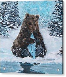 A Young Brown Bear Acrylic Print