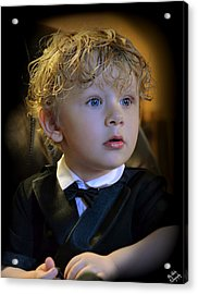 Acrylic Print featuring the photograph A Young Gentleman by Ally  White