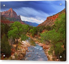 A Zion Morning Acrylic Print by Darren  White