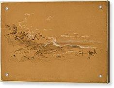 Aaron Draper Shattuck, Maine Coast, American Acrylic Print by Quint Lox