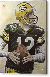 Acrylic Print featuring the painting Aaron It Out by Dan Wagner