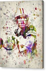 Aaron Rodgers Acrylic Print by Aged Pixel