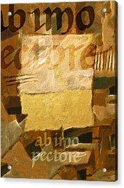 Ab Imo Pectore Golden Acrylic Print