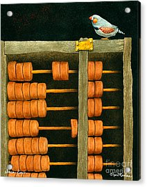 Abacus Finch... Acrylic Print by Will Bullas
