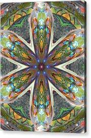 Abalone Christ Mandala Acrylic Print