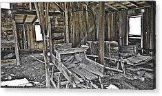 Abandon Barn Acrylic Print by Richard Balison