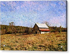 Acrylic Print featuring the photograph Abandoned Barn In North Georgia by Vizual Studio