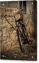 Abandoned Bicycle Acrylic Print by Amber Kresge