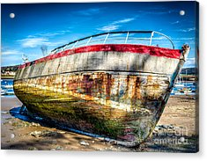 Abandoned Boat Acrylic Print by Adrian Evans