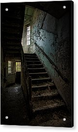 Abandoned Building - Haunting Images - Stairwell In Building 138 Acrylic Print by Gary Heller
