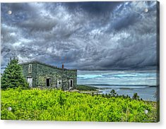 Abandoned Building In Goldboro Acrylic Print by Ken Morris