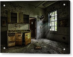 Abandoned Building - Old Asylum - Open Cabinet Doors Acrylic Print by Gary Heller