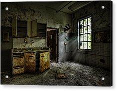 Abandoned Building - Old Asylum - Open Cabinet Doors Acrylic Print