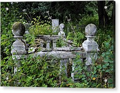 Acrylic Print featuring the photograph Abandoned Cemetery 2 by Cathy Mahnke