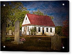 Abandoned Church And Graves Acrylic Print