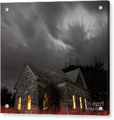 Acrylic Print featuring the photograph Abandoned Church Of Walters Oklahoma by Keith Kapple