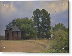 Abandoned Country House In Rural Northwest Iowa Acrylic Print